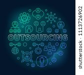 outsourcing round colored... | Shutterstock .eps vector #1113726902