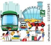 airport transfer  public... | Shutterstock .eps vector #1113732695