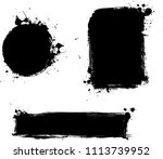 set of three black grunge... | Shutterstock . vector #1113739952