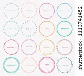 set of colorful round frames... | Shutterstock .eps vector #1113741452