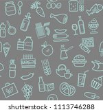 food and drinks  production and ... | Shutterstock .eps vector #1113746288