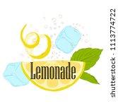 pattern lemonade  carbonated... | Shutterstock .eps vector #1113774722