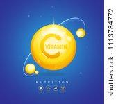 nutrition logo label vector... | Shutterstock .eps vector #1113784772