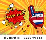male hand in the country flag... | Shutterstock . vector #1113796655