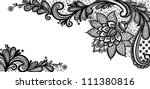 Black Lace Vector Design. Old...