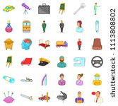 recruiting icons set. cartoon... | Shutterstock . vector #1113808802