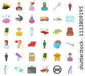 leader icons set. cartoon style ... | Shutterstock . vector #1113809195