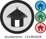 tropical house  vector  icon | Shutterstock .eps vector #111382628