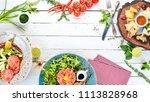 a set of food. tartar  cheese ... | Shutterstock . vector #1113828968