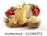 pizza ingredients isolated | Shutterstock . vector #111383372