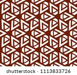 seamless pattern with symmetric ... | Shutterstock .eps vector #1113833726