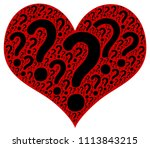 red heart with punctuation | Shutterstock . vector #1113843215