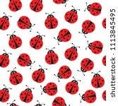 seamless vector pattern with... | Shutterstock .eps vector #1113845495