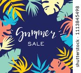 summer sale banner with... | Shutterstock .eps vector #1113845498