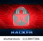 hackers means north korean data ... | Shutterstock . vector #1113847286