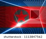 military cyber hack from north... | Shutterstock . vector #1113847562
