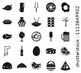 very harmful food icons set.... | Shutterstock . vector #1113849902