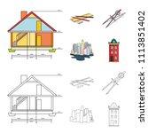 drawing accessories  metropolis ... | Shutterstock .eps vector #1113851402