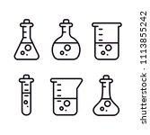 chemical laboratory bulbs... | Shutterstock .eps vector #1113855242