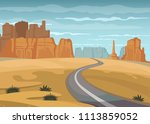 route 66 and the grand canyon...   Shutterstock .eps vector #1113859052
