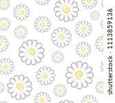 chamomile pattern  vector...   Shutterstock .eps vector #1113859136