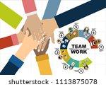 flat design illustration... | Shutterstock .eps vector #1113875078