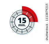 15 minutes time illustration | Shutterstock .eps vector #1113879215