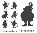 fairy tale fantastic gnome... | Shutterstock .eps vector #1113883082