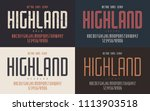 highland vector condensed bold... | Shutterstock .eps vector #1113903518
