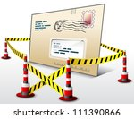 mail located in restricted area.... | Shutterstock .eps vector #111390866