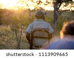 safari tracker on game drive | Shutterstock . vector #1113909665