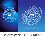artificial intelligence... | Shutterstock .eps vector #1113910868