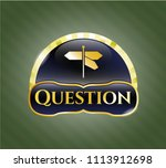 shiny badge with directions... | Shutterstock .eps vector #1113912698