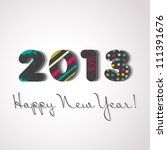 happy new year 2013  colorful... | Shutterstock .eps vector #111391676