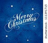 merry christmas. vector. | Shutterstock .eps vector #111391715