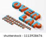 3 dimensional  3d overlap...   Shutterstock .eps vector #1113928676