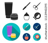 nail file  scissors for nails ... | Shutterstock .eps vector #1113940295