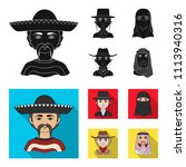 a mexican  a jew  a woman from... | Shutterstock .eps vector #1113940316