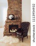beautiful antique  fireplace... | Shutterstock . vector #1113954932