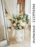 vintage elegant mirror in the... | Shutterstock . vector #1113956366
