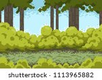 pixel background with forest...   Shutterstock .eps vector #1113965882