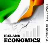 ireland economics illustration... | Shutterstock . vector #1113969086