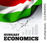 hungary economics illustration... | Shutterstock . vector #1113969092