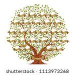 family tree template vector... | Shutterstock .eps vector #1113973268