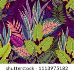 seamless background with... | Shutterstock .eps vector #1113975182