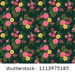 simple cute pattern in small... | Shutterstock .eps vector #1113975185