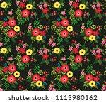 elegant pattern in small... | Shutterstock .eps vector #1113980162