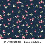 cute floral pattern in the...   Shutterstock .eps vector #1113982382