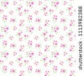 vintage floral background.... | Shutterstock .eps vector #1113982388