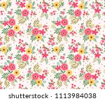 seamless floral pattern for...   Shutterstock .eps vector #1113984038